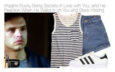 """""""Imagine Bucky Being Secretly in Love with You, and His Reaction When He Walks in on You and Steve"""" by xdr-bieberx ❤ liked on Polyvore featuring Madewell, adidas Originals, Stila and Marc Jacobs"""
