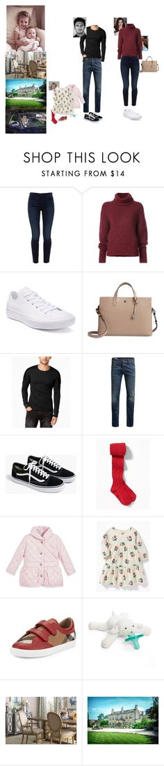 """""""Dinner at the house of his brother Prince Edward to decide the date of the baptism of Lady Angelica with Prinz Hugo and Alix"""" by empressofgermany ❤ liked on Polyvore featuring Jen7, BY. Bonnie Young, Converse, Lodis, GUESS, Jack & Jones, J.Crew, Ralph Lauren, Burberry and WubbaNub"""