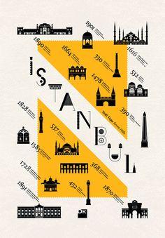 Istanbul poster; beautiful! Yedi Tepe | Geray Gencer