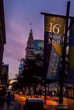 16th Street Evening Stroll in downtown Denver is delightful on a summer night.
