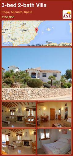 3-bed 2-bath Villa in Pego, Alicante, Spain ►€159,950 #PropertyForSaleInSpain