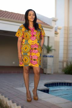 Summer with afrokulcha African Print Clothing, African Prints, Ethnic Fashion, African Fashion, Ankara Dress, Ethnic Style, African Style, Casual, Summer