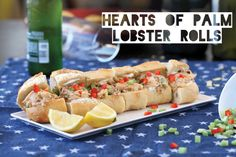 Hearts of Palm Lobster Rolls from The Lusty Vegan by Ayinde Howell and Zoe Eisnberg