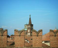 Il cielo di Soncino visto dalle mura del suo bellissimo castello!