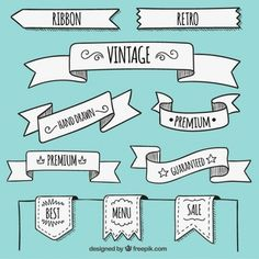 Hand drawn banners in retro style Getting your Traffic Exchange account setup could not be easier. Banner Doodle, Banners, Banner Drawing, Doodle Lettering, Sketch Notes, Bullet Journal Inspiration, Estilo Retro, Vector Free, How To Draw Hands