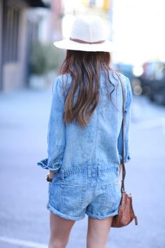denim Combinaison Pantalon, Combinaison Short, Salopette Jeans, Salopette  Femme, Mode Jeans, 613eba792164