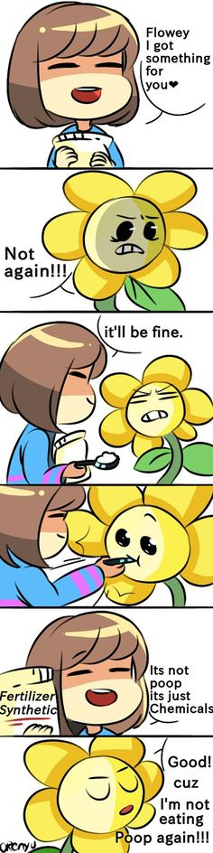 Frisk and Flowey Comic