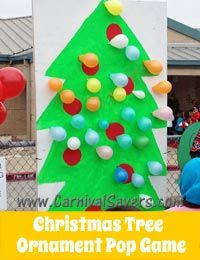 Christmas Tree Ornament Pop Game http://www.carnivalsavers.com/winter-carnival/winter-holiday-and-christmas-carnival-game-ideas.html