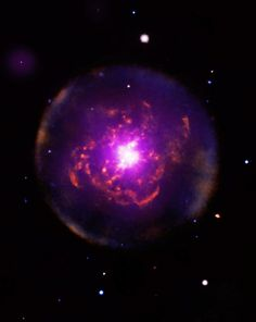 Planetary Nebula Abell 30 in X-Ray and Visible light.