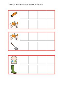 Fitxes per treballar la consciència fonològica Catalan Language, Letters, Writing, Reading, Valencia, School, Class Schedule, Kids Writing, Dyslexia