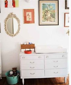 Use a dresser as a changing table.