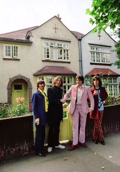 The Beatles. A rare picture. This looks like the Holly Lodge on Swains Lane.