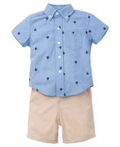 Shop our Sailboat Shirt and Short Set at LittleMe.com! Available in infant and toddler sizes!