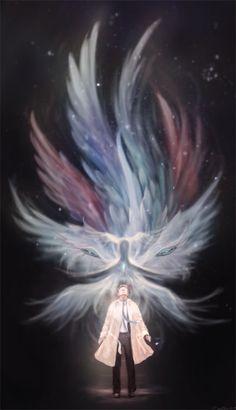 Supernatural Castiel True Form by le-shae Supernatural Tumblr, Supernatural Drawings, Supernatural Bloopers, Supernatural Fan Art, Supernatural Imagines, Supernatural Wallpaper, Arte Disney, Angel Art, Fantasy Art