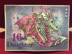 Ink Stamps, Colouring, Handmade Cards, Cardmaking, Dragons, Stamping, Embellishments, Dips, Card Ideas