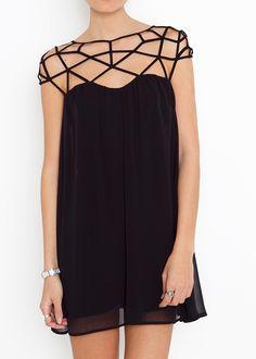 [US$47.99] - Mesh Wool Chiffon Sheer Dress : ThatsPoint.com