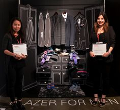 Blazer for Men by Lori and Winnie - 1st Place Winners. 'Art of Display' Visual Merchandising Exhibition at Redefining Design 2014. The School of Fashion at Seneca College. #RedefiningDesign