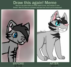 I did the draw this again meme! this is of a request i did for ShadowAlpha a year ago! :3