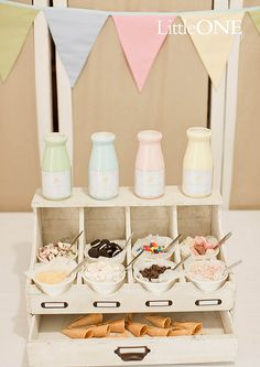 Ice cream party The Party Goddess! Marley Majcher ThePartyGoddess.com #party #ice_cream #Dessert