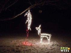 Gutting a Christmas Deer