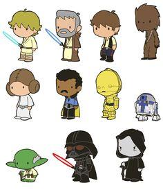 """Lil' Star Wars"" by artist Michael Turvey."