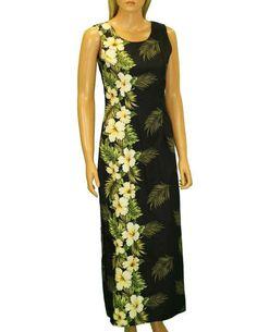 2ccbad4903 Island Spring Long Maxi Tank Hawaiian Dress Side Band – Twisted Palms  Trading Co. Palm