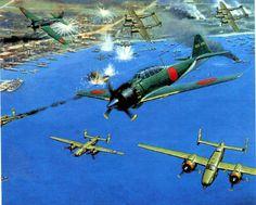 hanspanzer:  Zero's, P-38 y B-25