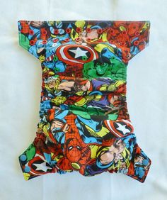 Marvel Comics OneSize Pocket Cloth Diaper or by GreenBeansDiapers, $23.50