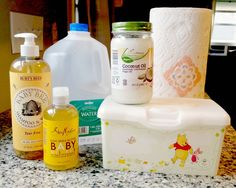 http://www.wheretobuykidstoys.com/category/baby-wipes/ Homemade baby wipes for about $1 per contained