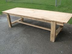 Dining table from reclaimed wood. Nice simple design, though would definitely forgo the extension leaves.
