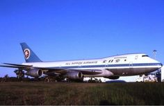 All Nippon Airways Boeing 747SR at Perth, mid-1980s