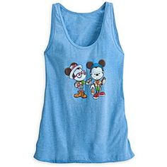 Now available at DIsneyStore.com -  Disney Mickey and Minnie Mouse ''Castle Coffee Break'' Tank Tee for Women   Disney StoreMickey and Minnie Mouse ''Castle Coffee Break'' Tank Tee for Women - Minnie and Mickey take a break from the magic to check their messages on this heathered knit tank for women. Featuring Jerrod Maruyama's stylized art, this breezy tank top texts a ''hipster'' fashion statement to one and all.