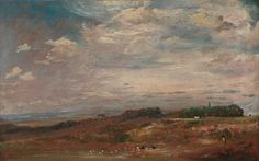 Study of Clouds Over a Landscape John Constable 1825