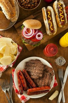 Buy Grilled Hamburgers and Hot Dogs by on PhotoDune. Grilled Hamburgers and Hot Dogs Ready to Eat Summer Tomato, Summer Bbq, Summer Parties, Summer Time, Party Food Buffet, Backyard Bbq, Quick Meals, Hot Dogs, Food Photography