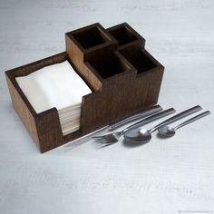 Салфетница-органайзер из дуба (280х145х140мм) – купить в интернет-магазине на Ярмарке Мастеров с доставкой