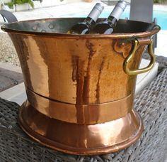 French copper and brass antique cellarette by michaelthompson1, $225.00