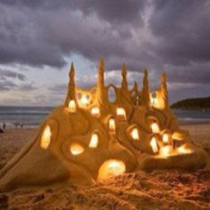 The most beautiful sandcastle I have ever seen. What a masterpiece! Can I live here!?