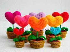 Centro de flores de crochet DIY
