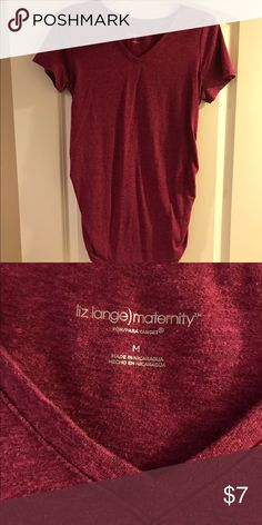 Maternity t-shirt Maroon colored, maternity t-shirt. Great for everyday wear with a growing belly. I will bundle any of my maternity clothes together of your choice and make a great deal for you 😘 Liz Lange for Target Tops Tees - Short Sleeve