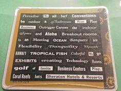 Magnetic sheet 45 plus words for HAWAIIAN conference Hotel Fun for your fridge!  | eBay