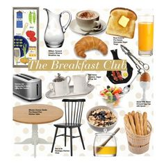 """""""The Breakfast Club"""" by kusja ❤ liked on Polyvore featuring interior, interiors, interior design, home, home decor, interior decorating, Kate Spade, William Yeoward, LSA International and KitchenAid"""