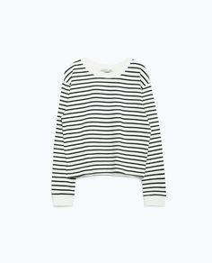 Image 8 of ROUND NECK SWEATSHIRT from Zara