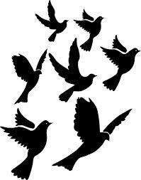 flight of doves stencil - Google Search