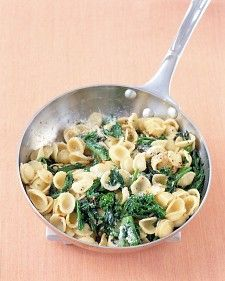 If your skillet isn't large enough to accommodate both the broccoli rabe mixture and the pasta, you can toss them together in a large bowl instead.