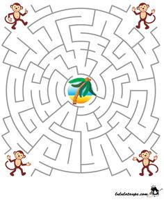 Level 2 von Printable Mazes For Kids Mazes For Kids Printable, Activity Sheets For Kids, Niklas, Maze Puzzles, Maze Game, Coloring Books, Coloring Pages, English Worksheets For Kids, Math For Kids