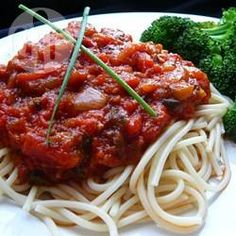 Rezeptbild: Spaghettisoße zum Einfrieren im Slow Cooker
