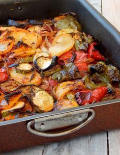 Food for thought: Μπριάμ Vegan Vegetarian, Vegetarian Recipes, Briam, Greek Recipes, Food For Thought, Paella, Healthy Choices, Side Dishes, Sweet Home
