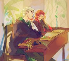 Scorpius and Rose by viria this art is so cool like oml ❤️ But i ship Albus and Scorpius ! Fanart Harry Potter, Harry Potter Couples, Harry Potter Ships, Harry Potter Universal, Harry Potter Fandom, Harry Potter World, Harry Potter Memes, Lily Potter, Fans D'harry Potter