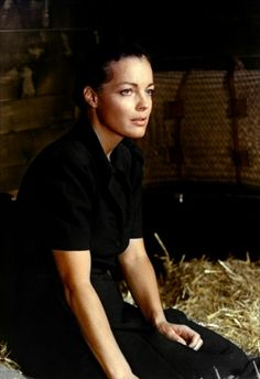 Romy Schneider in Le Train directed by Pierre Franier-Deferre