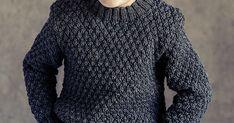Gratis strikkeopskrift på smart sweater med strukturmønster til drenge. Designet er med til at skabe en klassisk sweater, som samtidig Men Sweater, Sweaters, Design, Fashion, Moda, Fashion Styles, Men's Knits, Sweater, Pullover